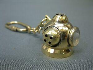 Schlüsselanhänger  Taucherhelm  Messing 3 x 3 cm  Maritime Dekoration