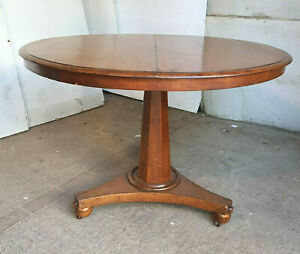 antique,victorian,small,round,tilt top,pedestal,table,dining table,tri pod base