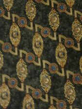 Silk neck tie, Metropolitan Museum of Art, blue gold