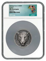 2018 Ivory Coast Mauquoy Haute Big Five Leopard HR 5 oz Silver NGC MS70 SKU54537
