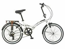 "Reflex Tempus 6 Speed 20"" Wheel White Folding Bike"