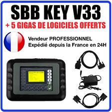 SBB KEY PROGRAMMER V33 OUTIL DE PROGRAMMATION CODAGE OBD2 VALISE POUR GARAGE