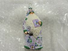 """Patricia Breen Ornament """"Sowing Time - Pansies"""" #2436 2004 Nwot"""