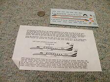 Big 1 Cal decals 1/144 Air Wisconsin Fairchild-Swearingen Metro Ii or I Qq1