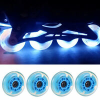 4pcs 64/70/72mm Premium Rollerblade LED Inline Wheels Roller for Outdoor Sport