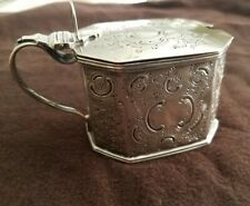 ENGLISH STERLING SILVER MUSTARD POT ROBERT HENNELL