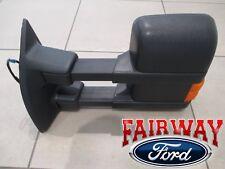 13 thru 16 Super Duty OEM Ford Power Heat Signal Trailer Tow Mirror w/o Mem LEFT