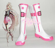 Vocaloid 3 IA Miku White Halloween Long Cosplay Boots Shoes H016