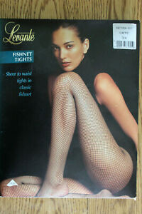 Pair of LEVANTE FISHNET TIGHTS 3/4 L made in ITALY NIP