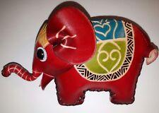 Animal Leather Purse ELEPHANT Red, Blue, Green, Black Yellow Skin Tone