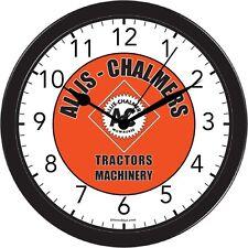 Allis Chalmers Garden Lawn Farm Tractor Art Wall Clock Black Part gift Office
