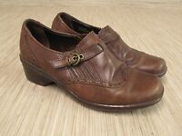 Earth Origins Carma 2 Women's Size US 8 Brown Leather Wing Tip Shoes