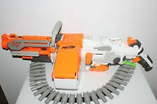 NERF VULCAN EBF 25 WHITEOUT WITH AMMO CHAIN WORKS GREAT AUTO DART BLASTER