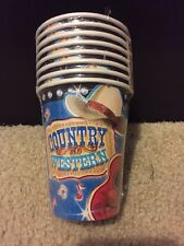 Western Wild West Cowboy Birthday Party 8 Pack 9 Oz Paper Cups Party Supply