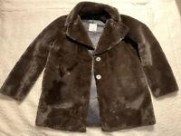 Zara Woman Teddy Bear Faux Fur Coat Size Large NWT Brown Plush Jacket SOLD OUT