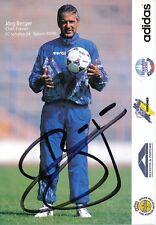 Jörg Berger † 2010  FC Schalke 04   1995/96  Autogrammkarte signiert 356444