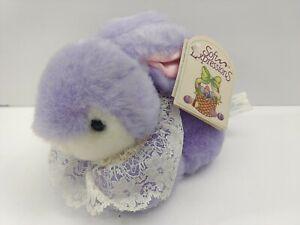 "Dan Dee plush soft expressions vintage small purple bunny rabbit 5"""