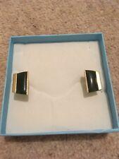 men's jewellery from New Zealand Genuine Jade and gold tone cufflinks