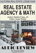 REAL ESTATE LAW OF AGENCY &  MATH, California Agent Exam,  Audio Course (CDs)