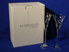 """WATERFORD CRYSTAL MARQUIS NEW YEAR""""S CELEBRATION PAIR CHAMPAGNE FLUTES NEW!"""
