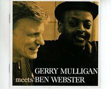 CD GERRY MULLIGANmeets  BEN WEBSTERVERVE VG++ (A3619)
