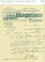 Dépt 31- Toulouse 1 Place Victor Hugo - Belle Entête d'un Grand Magasin de 1901