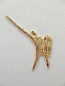 Alberto Da Giussano: Spilla da giacca (pins) in Oro Giallo 750 - 18 Kt - Legnano