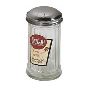 Kitchen Glass Table Sugar Dispenser Shaker Pourer Diner Retro Salt