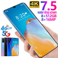 7.5'' P40 Pro Drop Screen 8+512G Android 9.1 Dual SIM GSM 4G LTE 5G Smartphone