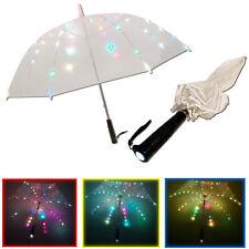 NEU LED Regenschirm Farbwechsel Lichtschirm Stockschirm Schwert Taschenlampe
