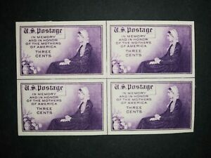 RIV: US NGAI 754 Center Line Block of 4 Farley Special Whistlers Mother 1935 2P