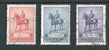 Australia 1935 Plata Jubileo SG156/8 Fino KGV utilizado