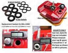 USMC Blitz Metal Gas Cap & Spout Gaskets FOR 2-1/2 1-1/2 Gallon TOTAL 12 GASKETS