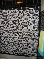 Redrawn  Desperately Seeking Susan Skull Shower Curtain Madonna Gay 80's NYC