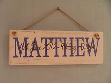 Shabby Chic Wooden Baby Decorative Plaques & Signs