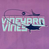 Vineyard Vines Mens L/S Deep Sea Marlin Pocket Tee T Shirt Purple Sz 2XL -NEW