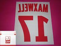 Flocage officiel PSG Paris MAXWELL 2012 14 domicile