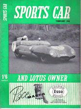 Sports Car + Lotus Owner 2/58 Auto Union 1000 Sunbeam Rapier Aston Martin Elva
