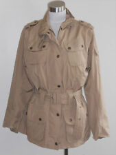BARBOUR Khaki flyweight safari utility military cargo jacket UK12 US 8 $395+