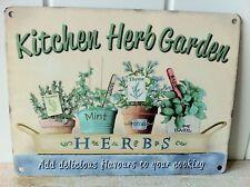 NEW METAL SIGN FOR KITCHEN  CONSERVATORY 'KITCHEN HERB GARDEN' PLAQUE