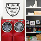 The Laundry Room Shield Vinyl Wall Art Home Decoration Quote Decal Sticker
