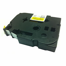 1 x Compatible Brother TZ631/TZe631 P-Touch 12mm x 8m Black on Yellow Label Tape