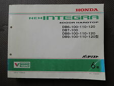 JDM Honda INTEGRA 4 door Original Genuine Parts List Catalog DB6 DB7 DB8 DB9