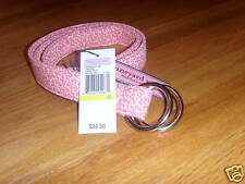 NWT Vineyard Vines O-Ring Belt Coral Reef Pink S