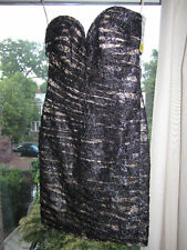 NWT Vicky Tiel Ruched Lace Strapless Dress SZ 8 - $660