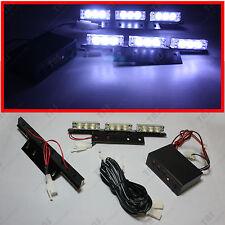 White 18-LED Emergency Vehicle Strobe Lights Deck Dash Grille Lightbars Flashers