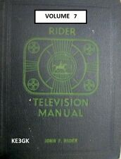 Riders Television Manual * Volume 7 * CDROM * PDF * TV Schematics