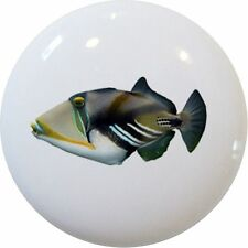 Tropical FISH Picasso TRIGGERFISH Cabinet DRAWER Pull KNOB Ceramic