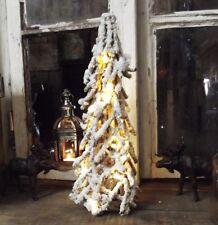 DECORAZIONE invernale Albero Di Natale illuminazione 42cm stile country