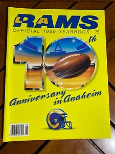 1989 LOS ANGELES RAMS OFFICIAL YEARBOOK